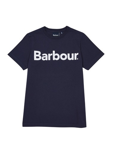 Barbour Erkek Çocuk Logo T-Shirt Ny31 Navy Lacivert